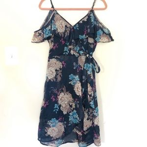 Brand New Xhilaration Cold Shoulder Floral Dress